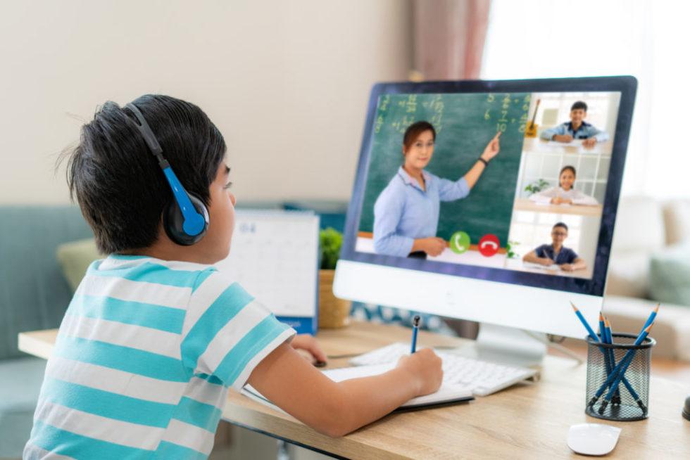Child In Online Class